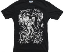 Tshirt Blackline - Battista Cycling Wear - Zombies love Slow Riders - Marcarini