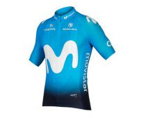 short sleeve jersey Movistar 2019 - Endura