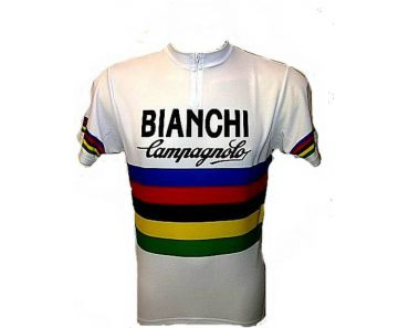 Bianchi World Champion Vintage short sleeve jersey - Marcarini