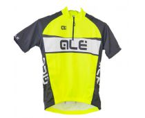 Short sleeve jersey child ALE YELLOW FLUO - ALE