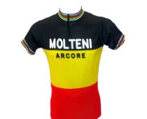 Short sleeve jersey Molteni Champion of Belgium - Marcarini