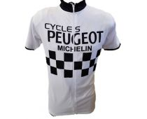 Peugeot Short Sleeve Jersey Central Closure